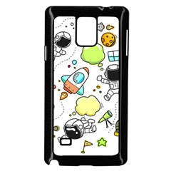 Sketch Set Cute Collection Child Samsung Galaxy Note 4 Case (black) by Celenk