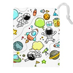 Sketch Set Cute Collection Child Drawstring Pouches (xxl) by Celenk