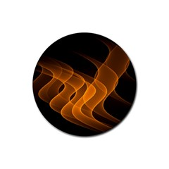 Background Light Glow Abstract Art Rubber Coaster (round)  by Celenk