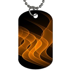 Background Light Glow Abstract Art Dog Tag (two Sides)