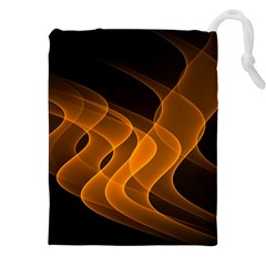 Background Light Glow Abstract Art Drawstring Pouches (xxl) by Celenk