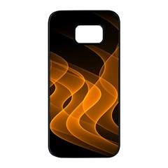 Background Light Glow Abstract Art Samsung Galaxy S7 Edge Black Seamless Case