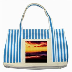 Great Smoky Mountains National Park Striped Blue Tote Bag