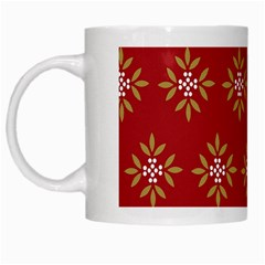 Pattern Background Holiday White Mugs by Celenk