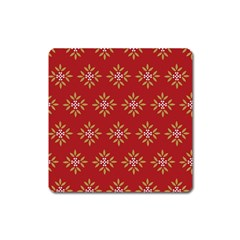 Pattern Background Holiday Square Magnet
