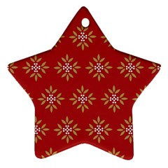 Pattern Background Holiday Star Ornament (two Sides) by Celenk
