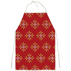 Pattern Background Holiday Full Print Aprons by Celenk