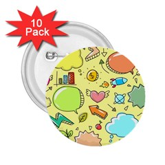 Cute Sketch Child Graphic Funny 2 25  Buttons (10 Pack)  by Celenk