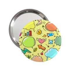 Cute Sketch Child Graphic Funny 2 25  Handbag Mirrors by Celenk