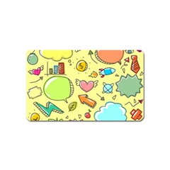 Cute Sketch Child Graphic Funny Magnet (name Card) by Celenk