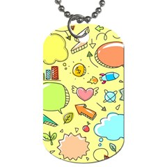 Cute Sketch Child Graphic Funny Dog Tag (two Sides)