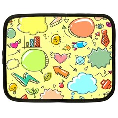 Cute Sketch Child Graphic Funny Netbook Case (large) by Celenk