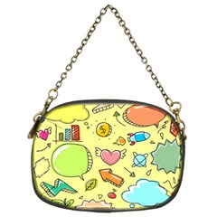Cute Sketch Child Graphic Funny Chain Purses (two Sides)  by Celenk