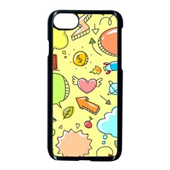 Cute Sketch Child Graphic Funny Apple Iphone 8 Seamless Case (black)