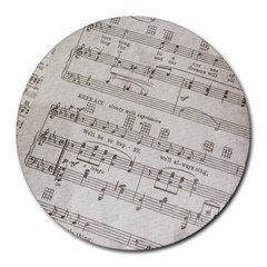 Sheet Music Paper Notes Antique Round Mousepads by Celenk