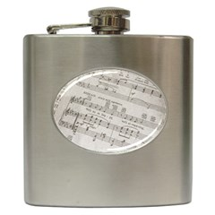 Sheet Music Paper Notes Antique Hip Flask (6 Oz) by Celenk