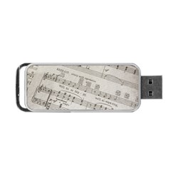 Sheet Music Paper Notes Antique Portable Usb Flash (two Sides) by Celenk