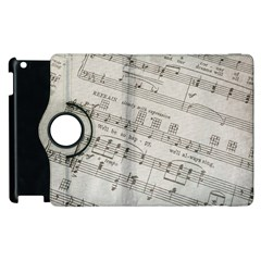 Sheet Music Paper Notes Antique Apple Ipad 2 Flip 360 Case by Celenk