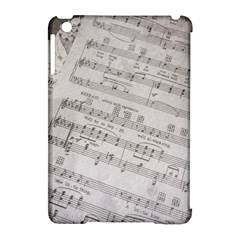Sheet Music Paper Notes Antique Apple Ipad Mini Hardshell Case (compatible With Smart Cover) by Celenk