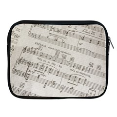 Sheet Music Paper Notes Antique Apple Ipad 2/3/4 Zipper Cases