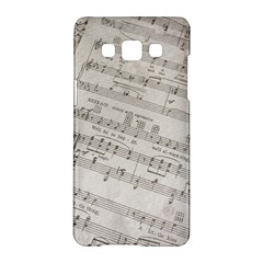 Sheet Music Paper Notes Antique Samsung Galaxy A5 Hardshell Case  by Celenk