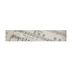 Sheet Music Paper Notes Antique Flano Scarf (mini) by Celenk