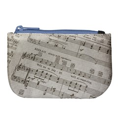 Sheet Music Paper Notes Antique Large Coin Purse by Celenk