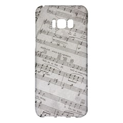 Sheet Music Paper Notes Antique Samsung Galaxy S8 Plus Hardshell Case  by Celenk