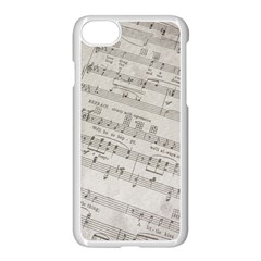 Sheet Music Paper Notes Antique Apple Iphone 8 Seamless Case (white) by Celenk