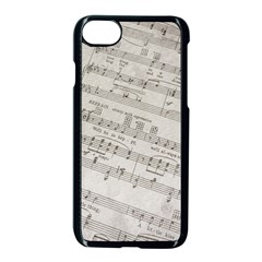 Sheet Music Paper Notes Antique Apple Iphone 8 Seamless Case (black)
