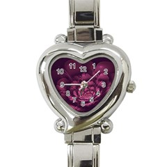 Fractal Blossom Flower Bloom Heart Italian Charm Watch by Celenk