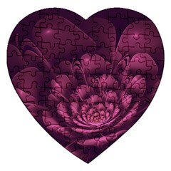 Fractal Blossom Flower Bloom Jigsaw Puzzle (heart)