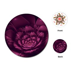 Fractal Blossom Flower Bloom Playing Cards (round)
