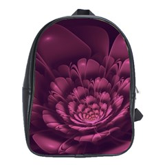 Fractal Blossom Flower Bloom School Bag (large)