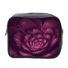Fractal Blossom Flower Bloom Mini Toiletries Bag 2 Side by Celenk