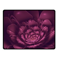 Fractal Blossom Flower Bloom Fleece Blanket (small) by Celenk