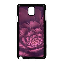 Fractal Blossom Flower Bloom Samsung Galaxy Note 3 Neo Hardshell Case (black) by Celenk