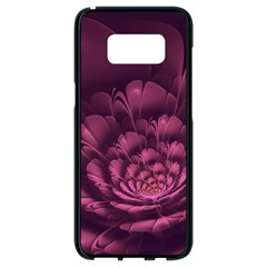 Fractal Blossom Flower Bloom Samsung Galaxy S8 Black Seamless Case