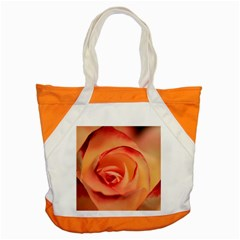 Rose Orange Rose Blossom Bloom Accent Tote Bag by Celenk