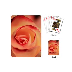 Rose Orange Rose Blossom Bloom Playing Cards (mini)  by Celenk