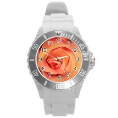 Rose Orange Rose Blossom Bloom Round Plastic Sport Watch (l) by Celenk