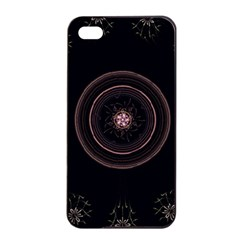 Fractal Flowers Pattern Fantasy Apple Iphone 4/4s Seamless Case (black) by Celenk
