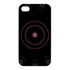 Fractal Flowers Pattern Fantasy Apple Iphone 4/4s Premium Hardshell Case by Celenk