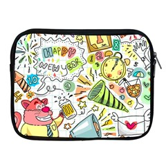 Doodle New Year Party Celebration Apple Ipad 2/3/4 Zipper Cases by Celenk