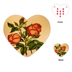 Vintage Flowers Floral Playing Cards (heart)  by Celenk