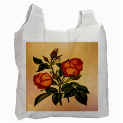 Vintage Flowers Floral Recycle Bag (two Side)