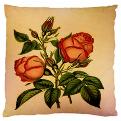 Vintage Flowers Floral Large Flano Cushion Case (two Sides) by Celenk