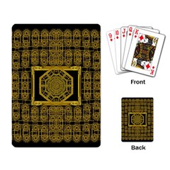 Beautiful Stars Would Be In Gold Frames Playing Card by pepitasart