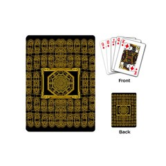 Beautiful Stars Would Be In Gold Frames Playing Cards (mini)  by pepitasart
