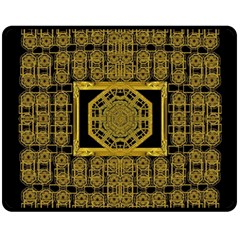 Beautiful Stars Would Be In Gold Frames Double Sided Fleece Blanket (medium)  by pepitasart
